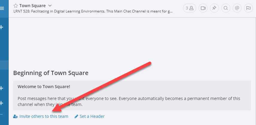 screenshot of Mattermost invite others to this team link